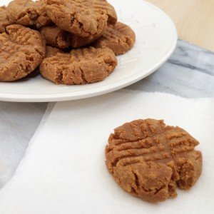 Low carb, sugar free peanut butter cookies.