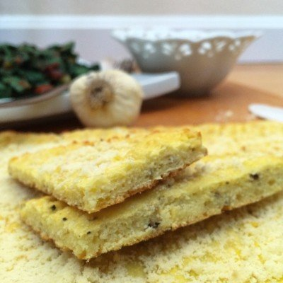 Low Carb Garlic Parmesan Flatbread