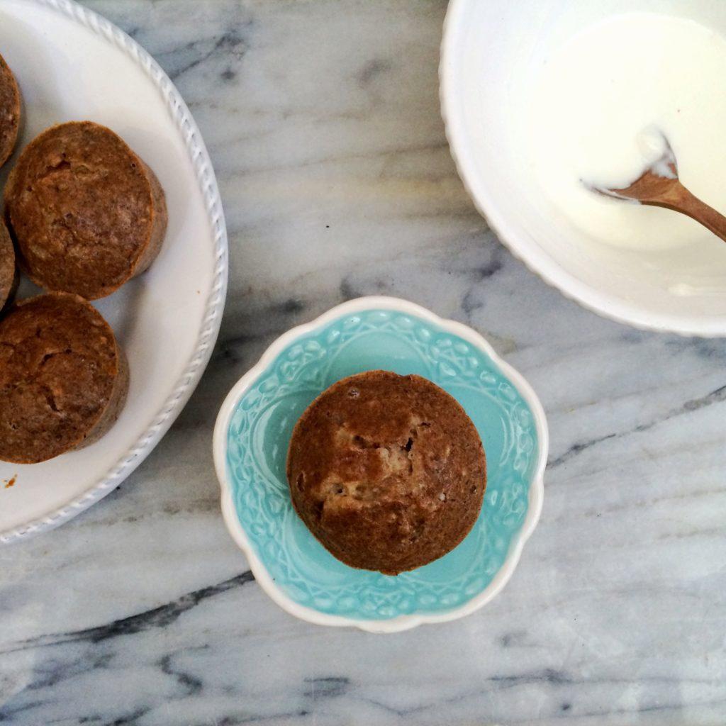 Sugar Free Spiced Hazelnut Muffins with Orange Cream | grain free, gluten free, sugar free, low carb