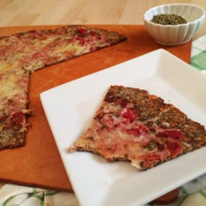 Nut Free Low Carb Pizza Crust | a LCHF, keto-friendly, and delicious pizza option that stands up to your toppings!