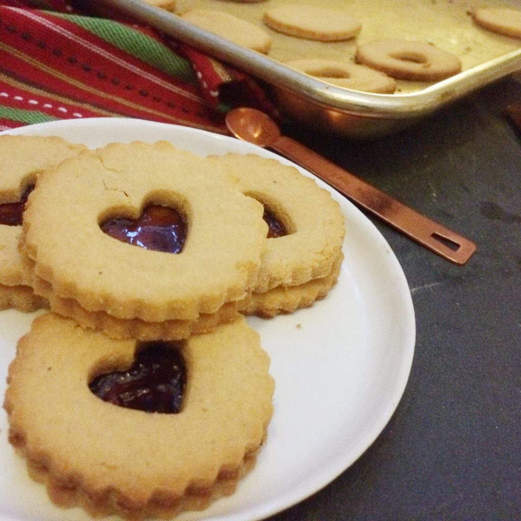 Low Carb Vegan Linzer Cookies   Meat Free Keto - a sugar free, keto friendly version of this classic Christmas cookie!