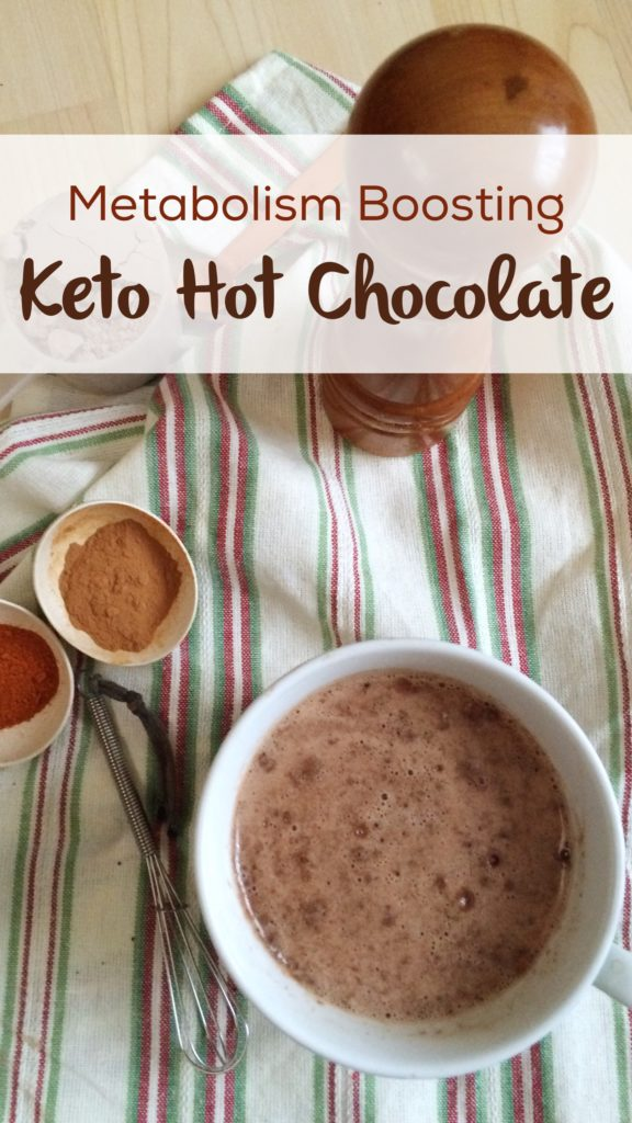 Metabolism Boosting Keto Hot Chocolate | rich, creamy, warming and full of protein for a perfect winter treat!