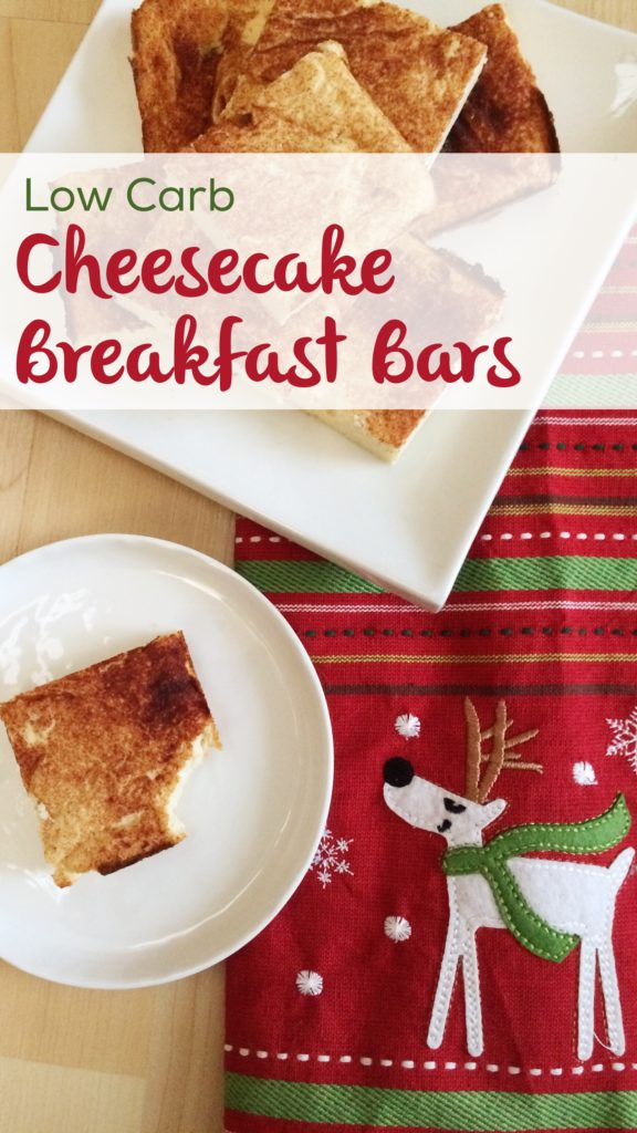 Low Carb Cheesecake Bars | These sugar free, keto friendly treats are high in protein, and go perfectly with your tea or coffee!