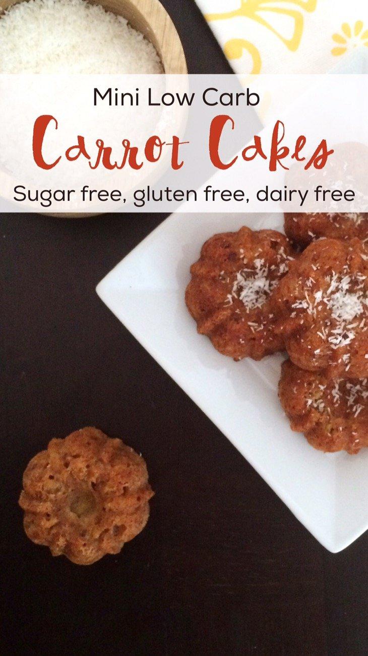 Low Carb Sugar Free Carrot Cake Recipe