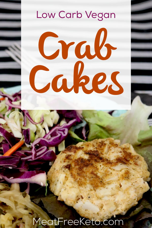 Low Carb Vegan Crab Cakes | Meat Free Keto - These gluten free, low carb, easy to make vegan crab cakes are the perfect addition to any summer cookout!
