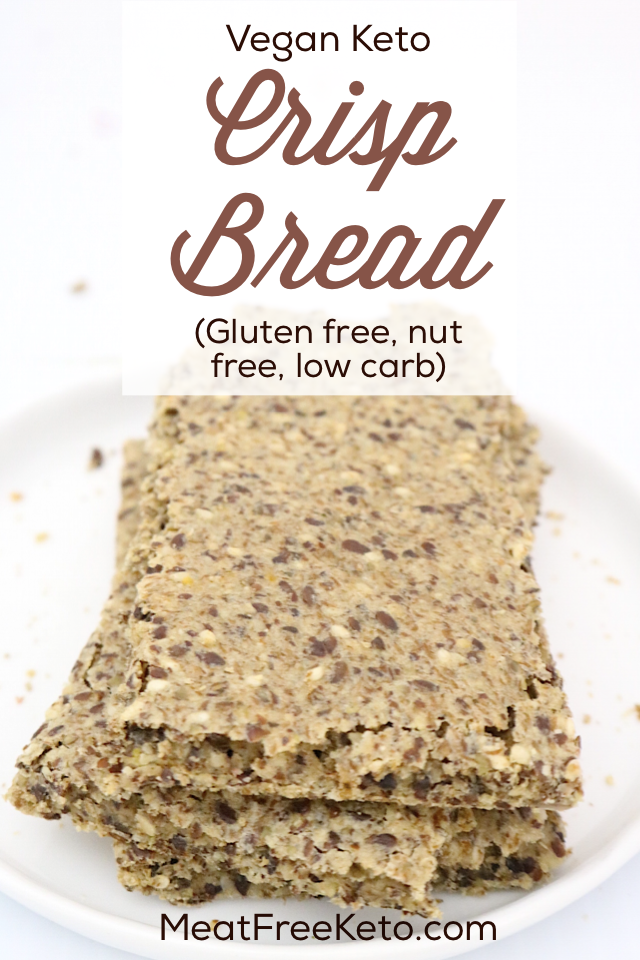 Low Carb Vegan Crispbread - Lavkarbo Knekkebrød | Meat Free Keto - This super easy recipe makes the perfect low carb, gluten free, nut free vegan flatbread for breakfast, lunch and dinner!