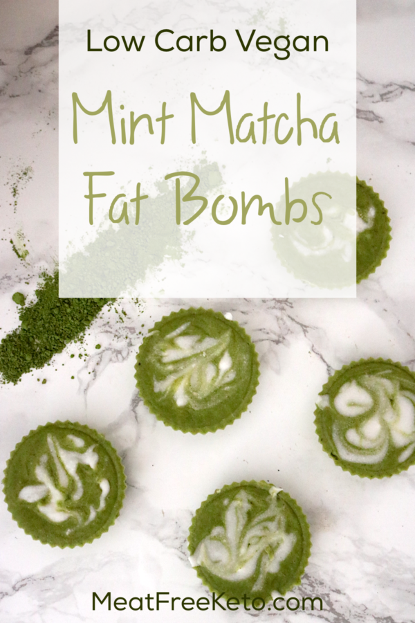 Low Carb Vegan Mint Matcha Fat Bombs | Meat Free Keto - These delicious and refreshing low carb vegan fat bombs are sugar free, nut free and satisfy that sweet tooth on a keto or low carb diet.