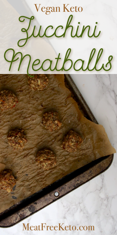 Vegan Keto Zucchini Meatballs   MeatFreeKeto.com - These vegan keto zucchini meatballs are a delicious and easy way to use up some of that summer squash you've got sitting in your fridge.