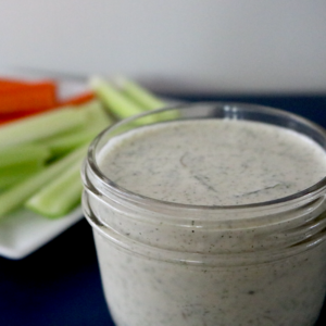 Low Carb Vegan Ranch Dressing | Meat Free Keto - This low carb vegan ranch dressing is dairy free, keto friendly and absolutely delicious!