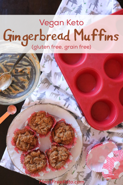 Vegan Ketone Gingerbread Muffin's - a delicious, gluten free, sugar free, low carb holiday treat!