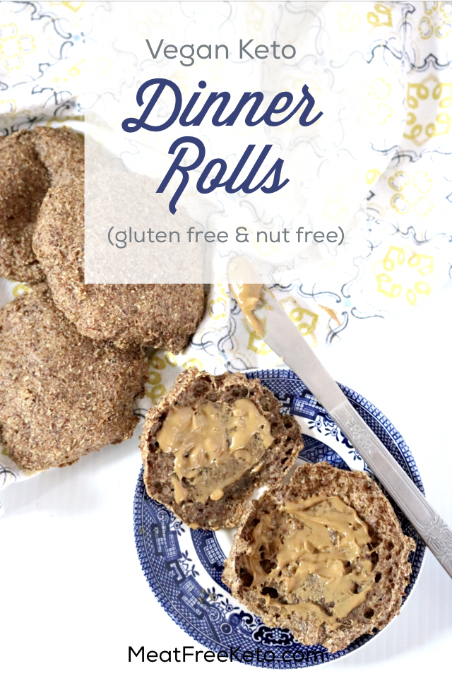 Vegan Keto Rolls | Meat Free Keto - A gluten free, nut free low carb dinner roll recipe, perfect for keto sandwiches or just dipping in some vegan butter!