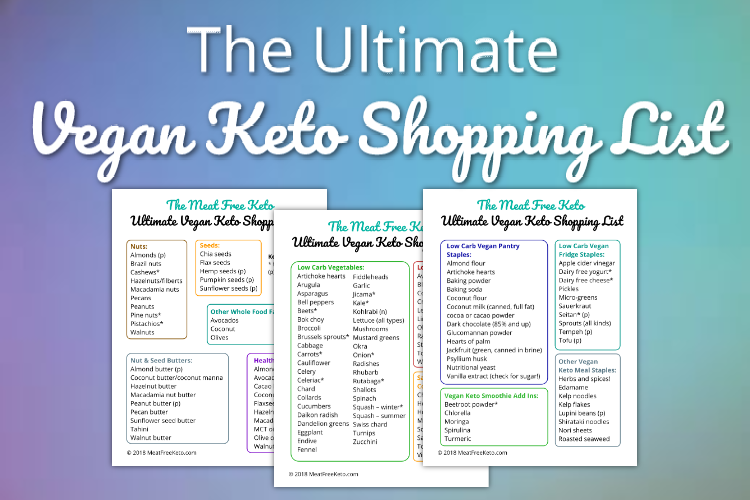 the ultimate vegan keto shopping list meat free keto this comprehensive shopping list covers