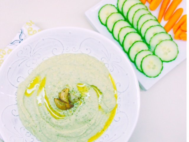 Cucumber Dill Low Carb Hummus | A lighter twist on a vegan classic, sure to please any palate!