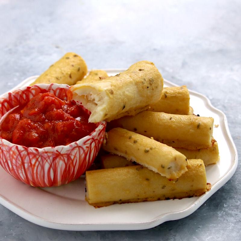 """Vegan Keto """"Mozzarella"""" Sticks (gluten-free, nut-free, soy-free)"""