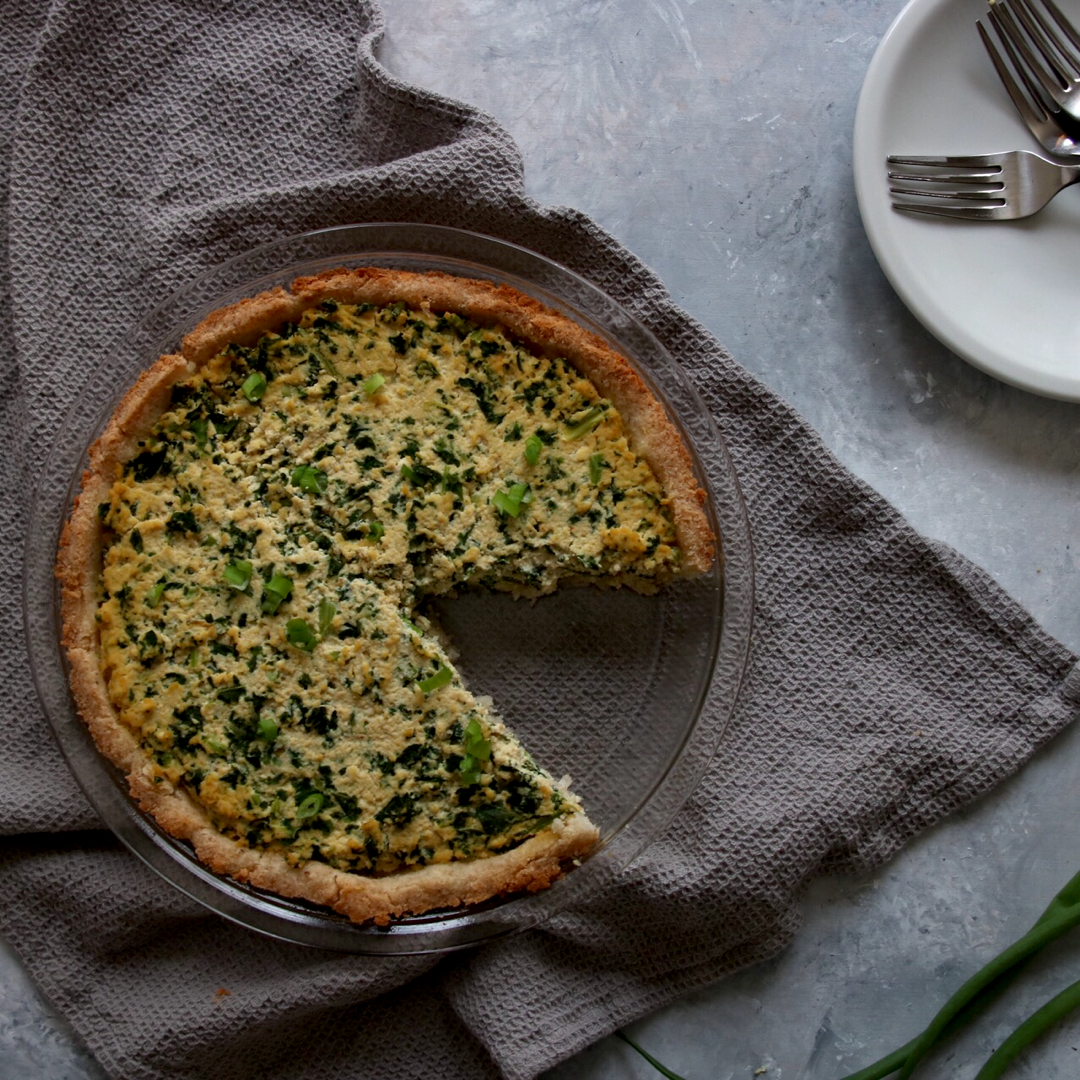 Vegan Keto Spinach Pie