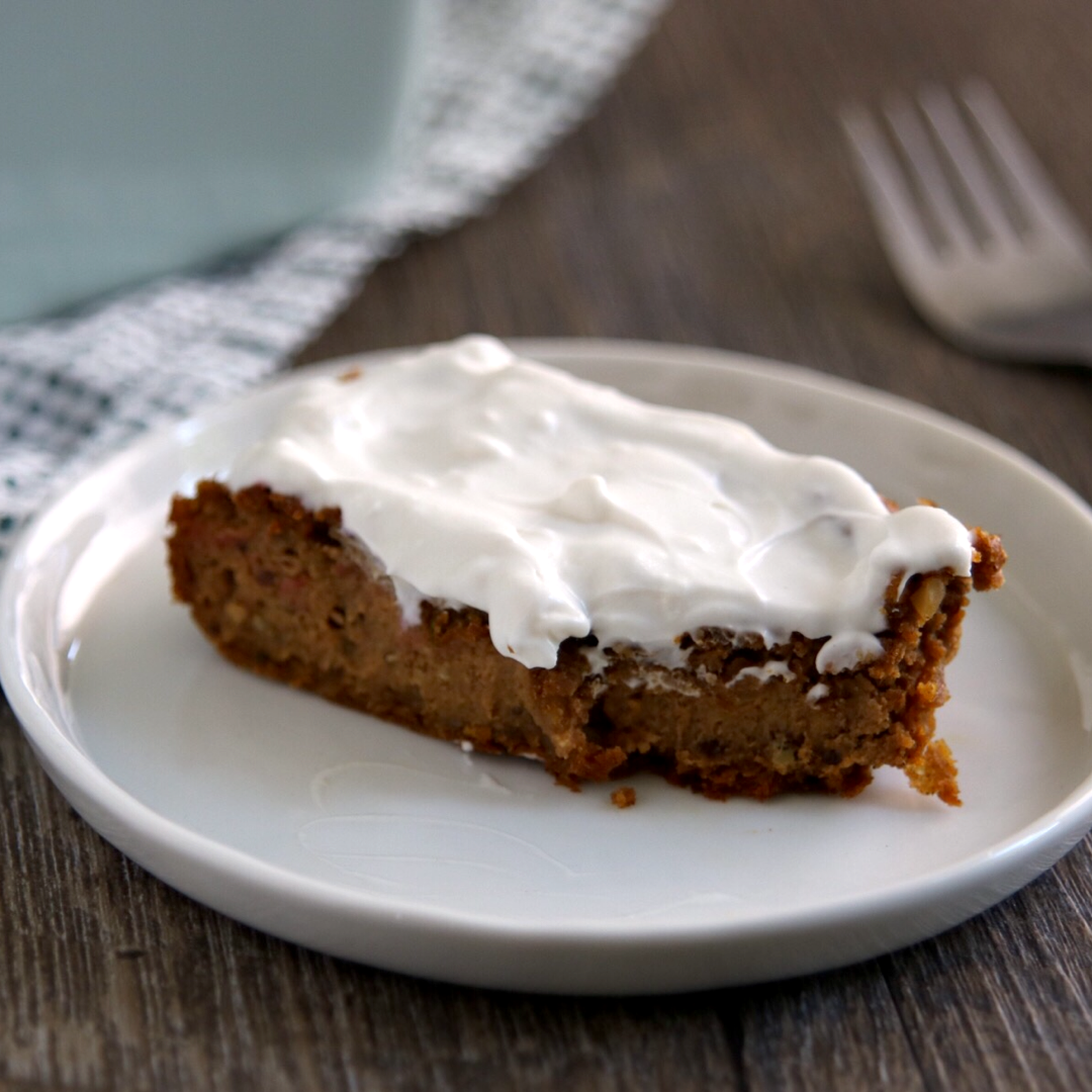 LCHF Vegan Pumpkin Spice Cake with Cream Cheese Frosting