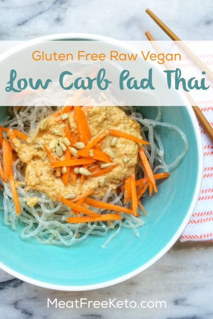Gluten Free Vegan Low Carb Pad Thai - Super easy, delicious, and no cooking required!