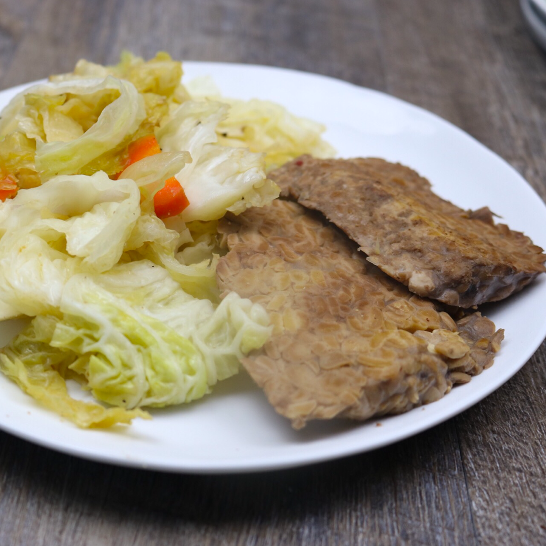 Gluten Free Vegan Keto Corned Tempeh & Cabbage
