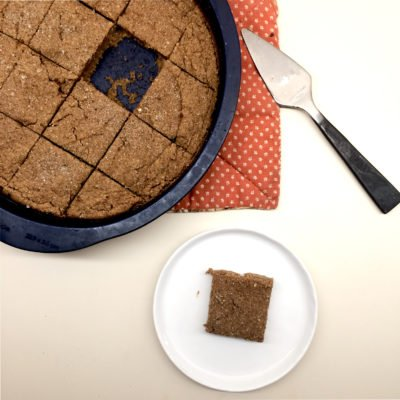 Low Carb Pumpkin Spice Blondies (vegan, paleo, nut free, gluten free, keto)