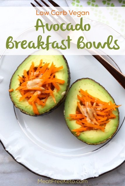 Low Carb Vegan Breakfast Bowls | A gluten free, paleo and keto friendly way to start your mornings!