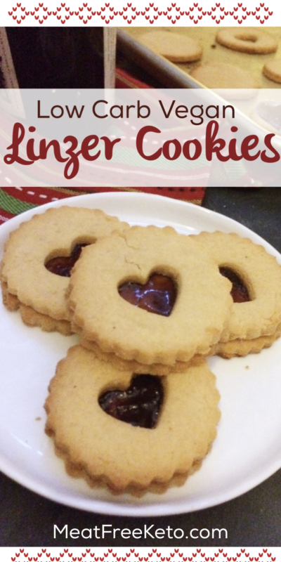 Low Carb Vegan Linzer Cookies | a sugar free, keto friendly version of this classic Christmas cookie!