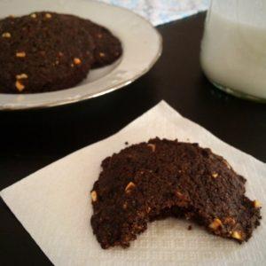Peanut Butter Chocolate Low Carb Vegan Cookies