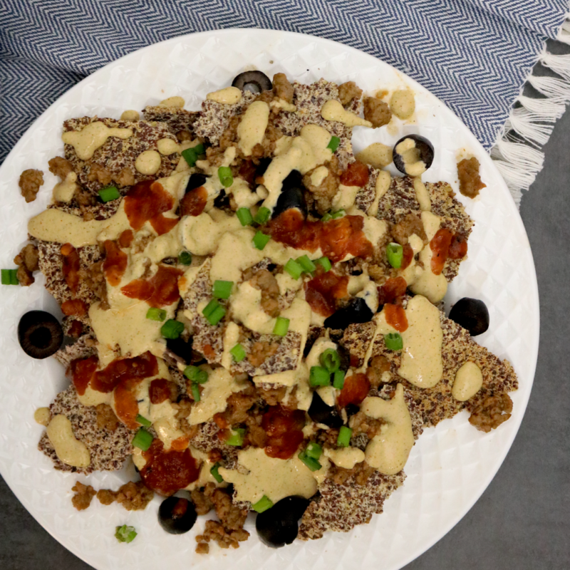 Low Carb Vegan Nachos Con Queso