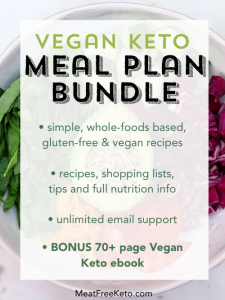 vegan keto meal plan bundle description